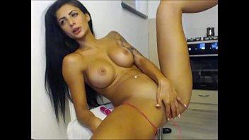 crimson-hot brilliant figure damsel getting off on webcam.