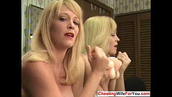 cougar faps off a sextoy