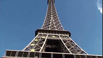 extreme orgy by the eiffel tower in paris.