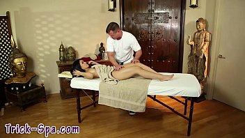Asian massage babe oral
