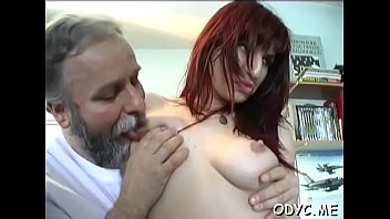 Hot old and young sex with cute babe jerking off older dude