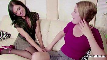 Hot MILF Mom Teach Petite Virgin Step-Daughter How to Fuck