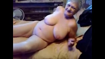 Nasty grandma fingering her pussy. Real amateur