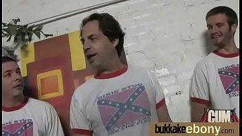 Ebony Babe Sucks Group Of White Guys 4