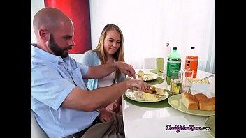 Teen Blondie Alyssa Gropes Dads Assistant