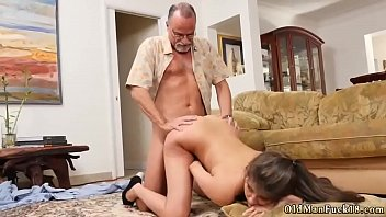 Girl licks old man and fucks him very duddy'_ partner'_s daughter first