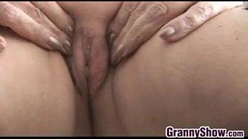 nasty grandma taunting her mature cooch