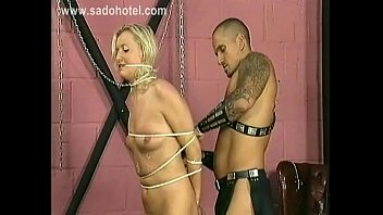 ultra-kinky blonde marionette with adorable jugs gets spanks.
