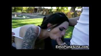 Emo Punk Teen Fucked Rough by 2 Cocks!