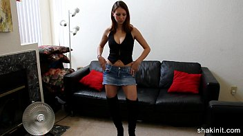 brief jean miniskirt stunner unclothing bare.