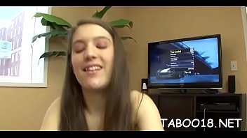 glamour brunettte teenie enjoys jism-pump