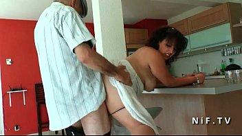 Amateur young chubby french arab fucked by old man Papy Voyeur