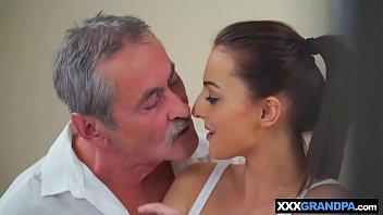 older granddad manstick meets youthfull nubile slit of.