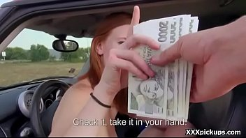 Amateur teen sucks and fuck big dick in public for money 23