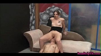 glamcore shemale deepthroating manhood intensively