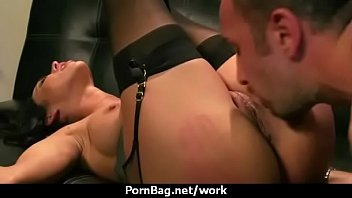 Hot big-boob office slut fuck boss'_ big-dick 10