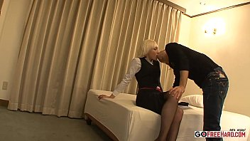 lily labeau blond cougar in the motel apartment.