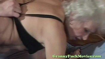 blond grandma harsh porked