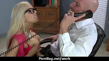 Big-boobed office executive fucks her new employee 6