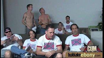 Ebony Babe Sucks Group Of White Guys 7