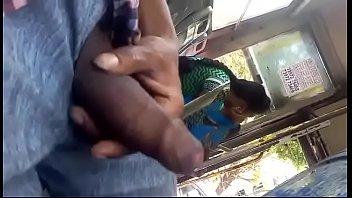 sausage flash to femmes in bus