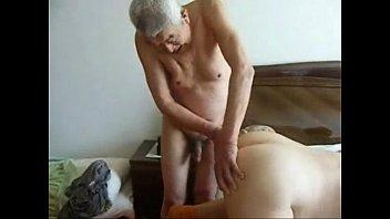 Granny cuckold. Amateur home made