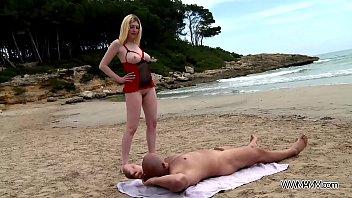 fresh blondie get spunk on her monster culo.