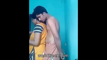 desi aged aunty with her son friend