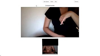 Chatroulette - Big tits girl gets horny by young guys cock