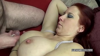 ginger-haired cougar lia shayde takes all the cum.