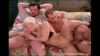 whorish ash-blonde threeway from romania