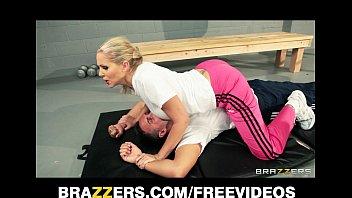 Dominant blonde trainer Julia Ann gets a good deep fucking