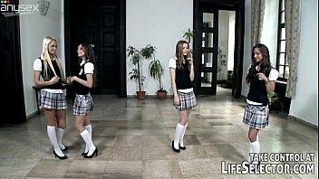 Petite college girls are so slutty and wild for the professor