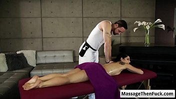 gina valentina gets a sensuous rubdown and get.