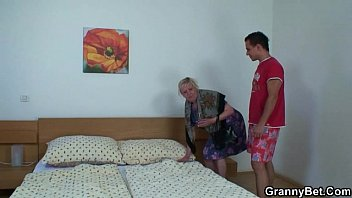 yam-sized-titted blond grannie sates him after.