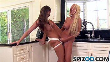 Spizoo - Jennifer Dark fucks Puma Swede with a big strap on, big boobs
