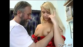 slender inexperienced wench gets tongued and rails an.