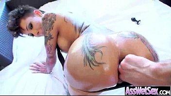 Big Butt Oiled Girl (bella bellz) Get Anal Hardcore Sex On Camera movie-08
