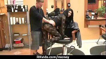 Sexy teen nails her butt on hard dick for cash 20