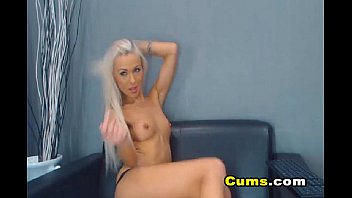 Sexy Blonde Babe Strips And Fucks Her Tight Pussy ( More at - www.girls-cams.top )