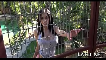 Stud with a giant pole gets it unfathomable into latina'_s shaved muff