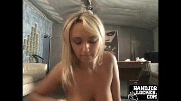 Blonde amateur big tit handjob