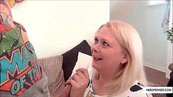 Chubby Blonde Girl POV Blowjob