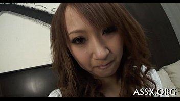 Asian anal drilling and vagina toying