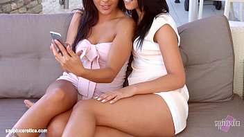Sapphic Erotica presents Vivien Bell and Angelina Wild lesbians