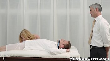 Innocent Mormon teen welcomes new member by sucking him off