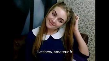Cute teen on webcam masturbation
