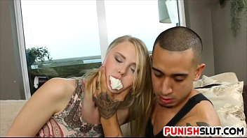 Blonde teen Lily Rader gets the rough treatment from bf