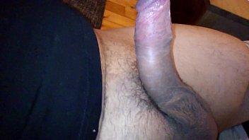 My hairy penis hard masturbation